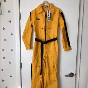 I AM GIA yellow boiler suit-jumpsuit
